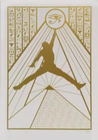 """""""His Airness"""" poudre de bronze - Lithographie à 10 exemplaires - Idem Paris"""