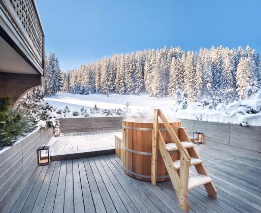 Chambre Ski Piste with hot tub
