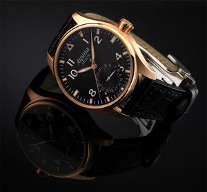 Alpina Startimer Pilot Manufacture watch in 18K Rose Gold