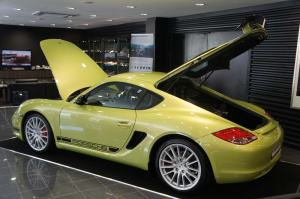 The new Porsche Cayman R unveiled in Singapore