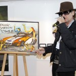 Rockstar Udo Lindenberg unveils Porsche GT3 painting for his charity 2