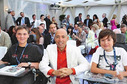 From left to right: Philippe Ferreyrolles, Luc and Paul Pettavino (Copyright: Claudia Alburquerque)