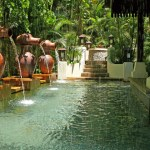 One of the beautiful pools at Spa Village - Pangkor Laut Resort
