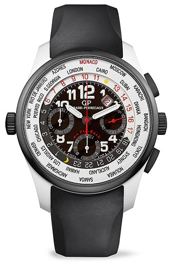 Girard-Perregaux WW.TC – Titanium Oxide World Time fly-back Chronograph wrist watch