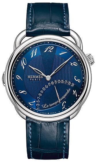 Hermès Paris Arceau, Le Temps Suspendu, worlds first triple retrograde palladium watch