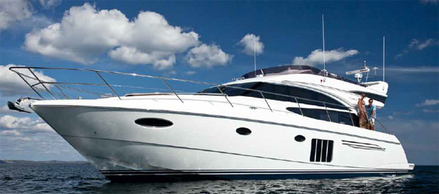 The new Princess 60 luxury cruiser from the Princess Flybridge range