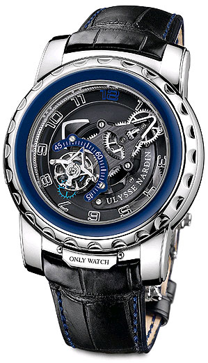 Ulysse Nardin Freak Diavolo stainless steel watch with flying tourbillon regulator