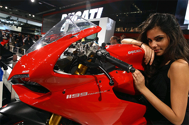 The Ducati 1199 Panigale superbike and the Streetfighter 848 at Motorcycle Live