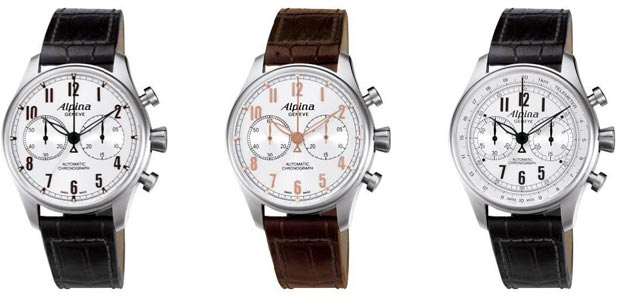The make up of the Alpina Startimer Classic watch collection