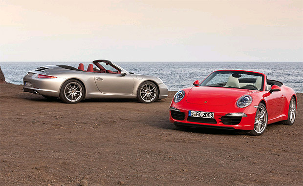 The new Porsche 911 Cabrio is unveiled to the public for the first time in Detroit