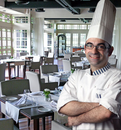 Chef de Patroni Giovanni Ricci of the Senja Restaurant at The Club at Saujana Resort