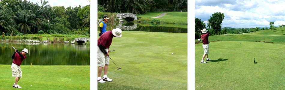 Pat Phanekham Hotel Manager of The Club at Saujana Resort playng golf with Luxurious Magazine