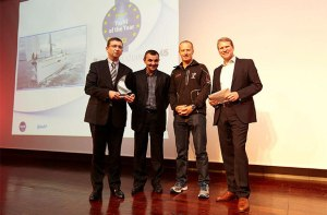 The Beneteau Oceanis 45 wins 'European Sailboat of the Year in the family cruiser category