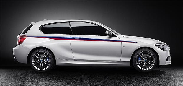 The BMW Concept M135i with characteristics typical of a BMW M Performance automobile.