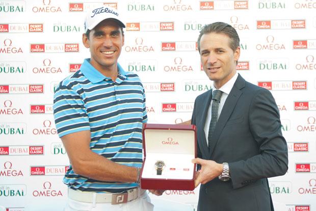 Rafael Cabrera-Bello wins nail-biter at Omega Dubai Desert Classic 2012.
