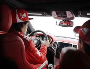 New 2012 Jeep Grand Cherokee SRT8 SUVs will sport Ferrari Red for F1 Stars