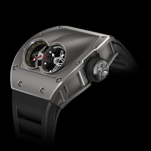 RM 053 Pablo Mac Donough Polo Tourbillon featuring a totally new 'armored' case in titanium carbide engineered to tolerate the extreme shocks likely to occur during a polo match.