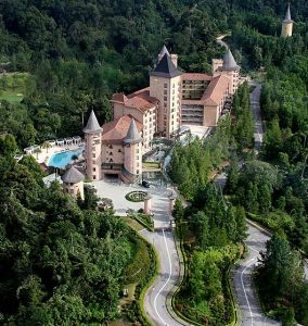 The Chateau Spa and Organic Wellness Resort as seen from the air