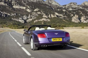 The new Bentley Continental GTC luxury convertible V8 arrives in Geneva.