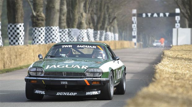 A 1984 Jaguar XJS TWR wins 'Most spirited Getaway' award at Goodwood Festival of Speed.