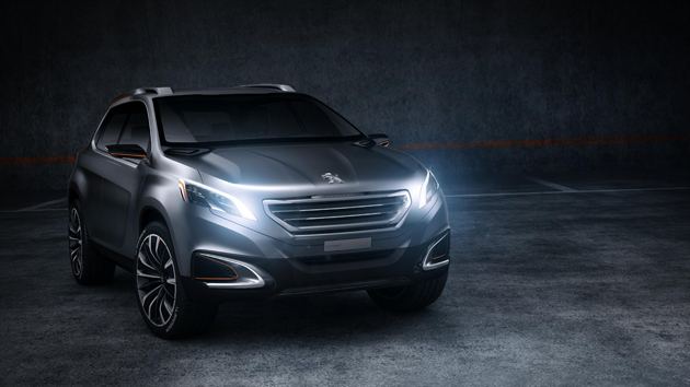 Peugeot unveil the Urban Crossover Concept at the Beijing Motor Show.