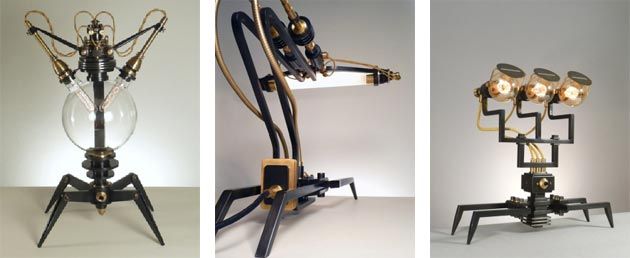 Exhibition of the Machine Lights by Frank Buchwald at the M.A.D. Gallery.