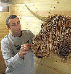 Bob Johnston, wicker weaver, basket maker and recipient of a QEST Scholarship.