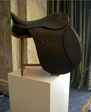 Mia Sabel leather designer, saddle maker and recipient of a QEST Scholarship.