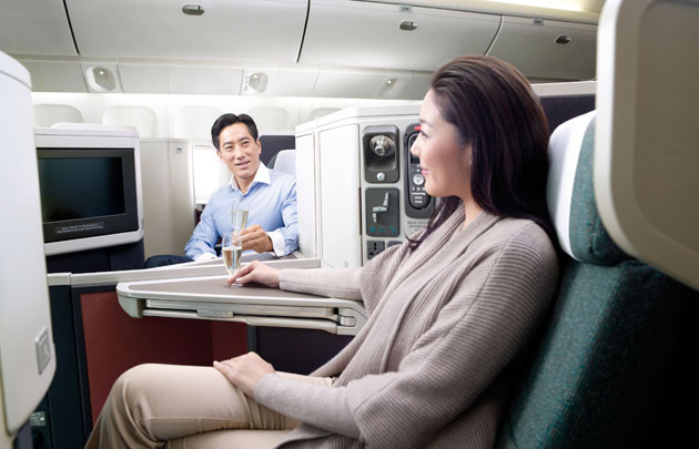 "Cathay Pacific accepts Skytrax ""World's Best Business Class"" award on behalf of its customers and its staff."