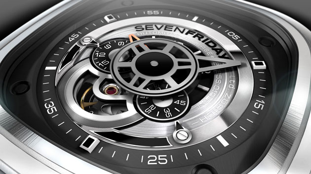 Zurich based watch company Sevenfriday launches the P1 and P2 wristwatches.