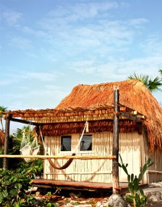 """The Papaya Playa Project is partnering with Finding Infinity, an international grassroots ecological initiative to implement renewable sources of energy and get the resort completely """"off the grid"""". At the project, this means innovative wind power technology to minimise noise production and impact on local wildlife, bicycle-powered blenders, solar-heated water, hyper local food served at the resort's restaurant and bio-diesel fuelled staff vehicles."""