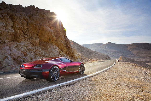 The MIllion Dollar Rimac Concept One electric supercar to debut at Salon Prive 2012.
