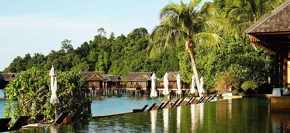 The Spa Villa swimming pool complex at Pangkor Laut.