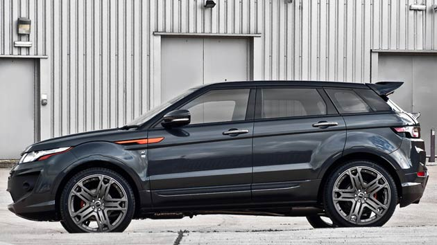 Kahn's Dark Tungsten RS250 Range Rover Evoque, which sports a price tag of £55,875, will be on display alongside Afzal Kahn's Bugatti Veyron complete with his famous F1 number plate at the CarFest show in Hampshire from 25-26 August, 2012. The model will be officially presented by Radio DJ and car enthusiast, Chris Evans.