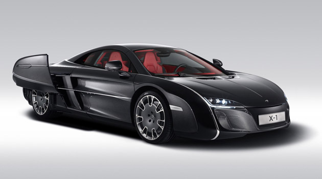 Called the McLaren X-1 and based structurally on the company's groundbreaking carbon MonoCell but with a totally unique body, it has been created for an anonymous car enthusiast.
