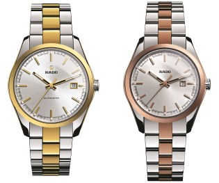 It is this understanding that has led Rado to add two new models to its HyperChrome collection, which was first presented at Baselworld 2012. The two new editions have rose gold coloured and yellow gold coloured elements which are made of innovative Ceramos™ and also share many of the same impressive design features as the rest of the HyperChrome collection. Ceramos™ is lightweight, ultra hard, scratch-resistant and even adapts to the wearer's skin temperature.