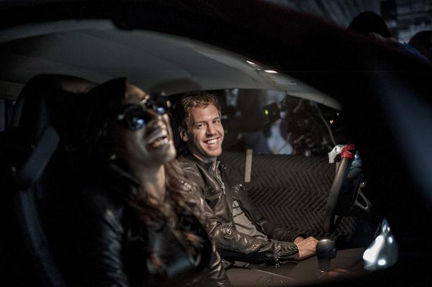 Double Formula One World Champion Sebastian Vettel has taken on a driving job with a difference - starring in a music video with Double Grammy-winning US R&B star and protégé of Jay-Z, Melanie Fiona.