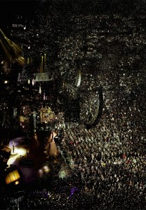 """Andreas Gursky, Madonna I, 2001 - The show will feature never-before shown photographs by Gursky, whose digitally processed photographs are known for their extreme largeness and depth, as well as the ambivalence of their perspective. A theme of his latest work series (Ocean, 2010; Bangkok, 2011) is """"water,"""" a charged topic due to recent events in Japan and Australia. For more information on the exhibit and Museum Kunstpalast"""