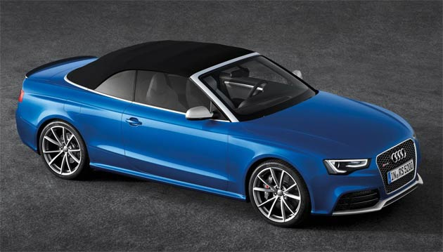 The lightweight 'acoustic hood' of the Audi RS 5 Cabriolet offers a degree of sound absorption that runs its fixed head counterpart remarkably close, and at the press of a button opens and closes fully automatically in 15 seconds and 17 seconds respectively – even when driving at speeds of up to 31mph.