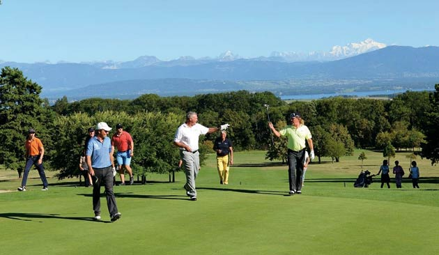In Switzerland, players from 11 different countries including Europe and Asia enjoyed a round of golf at the Bonmont Golf Club, located at the foot of the Jura mountains with views over the Lake Geneva and Mont Blanc. In the US, players enjoyed the tournament at the Liberty National Golf Club, the closest golf course to Manhattan with stunning views of the Statue of Liberty.