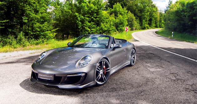 """The new '991' Carrera Cabriolet is the latest """"air-cooled"""" 911 to stir the Porsche driver's emotions with its familiar flat-six soundtrack. Now, the new GT aerodynamic package from the German tuner, Gemballa, compliments the al fresco experience by taking the Cabriolet's visual appeal to the next level."""