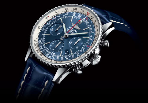 Breitling celebrates the legendary Navitimer's 60 years in flight with the Navitimer Blue Sky