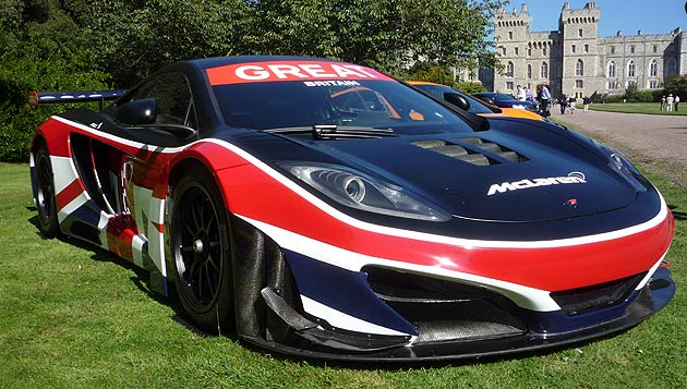 McLaren 12C GT3 dressed in a unique Union Flag livery.