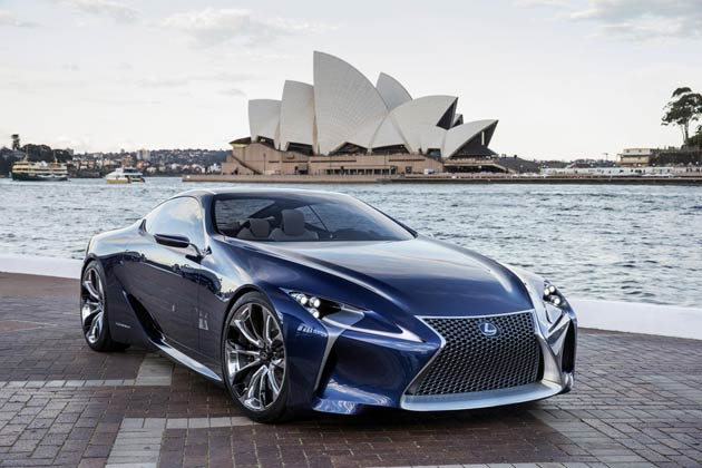 Lexus Ups The Power Down Under With LF-LC Blue Coupe Concept