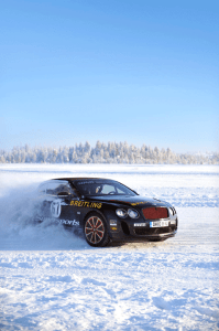 """A national hero in his native Finland, Kankkunen comments: """"The opportunity to once again drive the Continental GT around our famous ice tracks is one I can't resist. The huge power combined with all-wheel-drive and the new eight-speed gearbox makes the GT the perfect car for such exciting and engaging driving. Our customers are always amazed that their cars are so rewarding to drive at the limit of grip, and it's my pleasure to teach them how to do it!"""""""