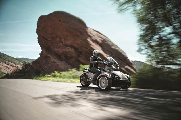 Bombardier Recreational Products (BRP) is adding to its Can-Am Spyder roadster range in 2013 with the introduction of the new Can-Am Spyder Sport Touring (ST) line-up.