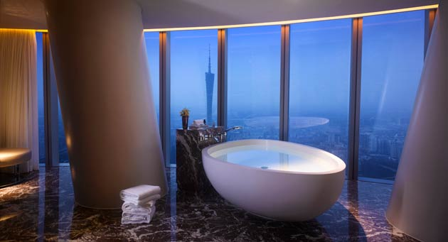 Arranged around a breath-taking full-height atrium, and taller than St Paul's Cathedral in London or the Statue of Liberty in New York, the 344 luxurious guest rooms and suites are among the most modern and spacious in the city, with unrivalled views of the Pearl River. Known to centuries of western traders as Canton, Guangzhou is China's third largest conurbation, located 120 kilometres (75 miles) upriver from Hong Kong and 165 kilometres (100 miles) from Macau.