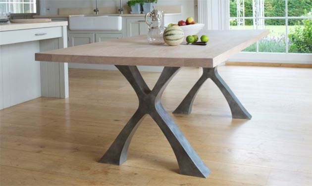 The Exe Dining Table from Handmade Furniture Designer Tom Faulkner