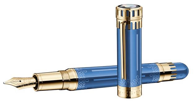 The latest Patron of Art Edition, with its Solid Gold Limited Edition 888 and its Sterling Silver Limited Edition 4810 fountain pens priced at £6,400 and £1,765 respectively