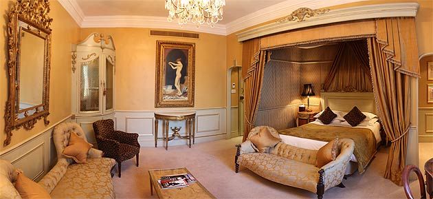 All of the rooms are individually furnished with hand-picked pieces, period pictures and ornate feature beds
